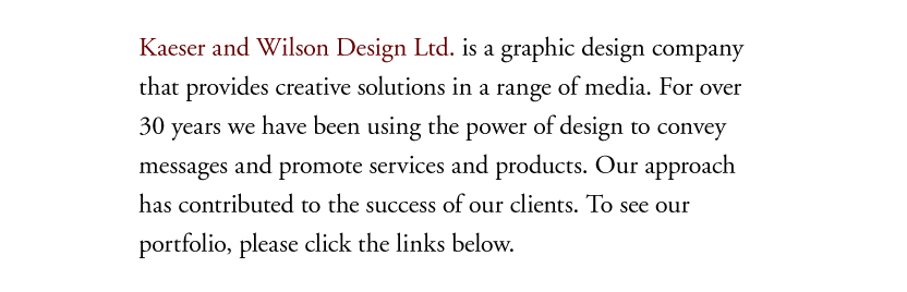 Graphic design and marketing communication services