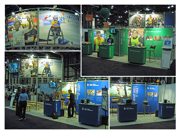 NYRR expo booth graphics